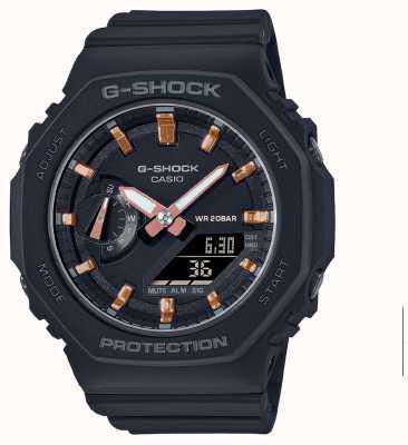 Casio Middelgrote g-shock | zwarte kunststof band | zwarte wijzerplaat GMA-S2100-1AER