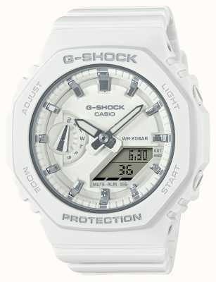 Casio Middelgrote g-shock | witte kunststof band | witte wijzerplaat GMA-S2100-7AER
