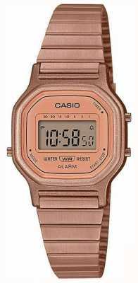 Casio Vintage | rosé vergulde stalen armband | digitaal beeld LA-11WR-5AEF