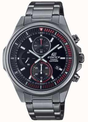Casio Edifice - klassieke collectie | roestvrijstalen armband | zwarte wijzerplaat EFR-S572DC-1AVUEF