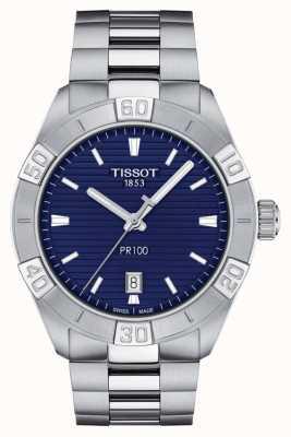 Tissot Pr100 sport | blauwe wijzerplaat | roestvrij stalen armband T1016101104100
