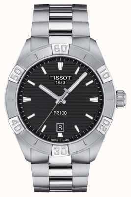 Tissot Pr100 sport | zwarte wijzerplaat | roestvrij stalen armband T1016101105100