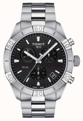Tissot Pr100 sport | chronograaf | zwarte wijzerplaat | roestvrij stalen armband T1016171105100
