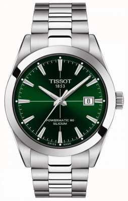 Tissot | heren automatisch | powermatic 80 | roestvrijstalen armband | groene wijzerplaat | T1274071109101