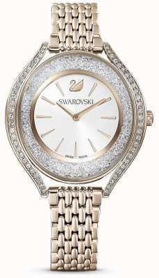 Swarovski Kristallijne aura | gouden roestvrijstalen damesarmband | witte wijzerplaat 5519456