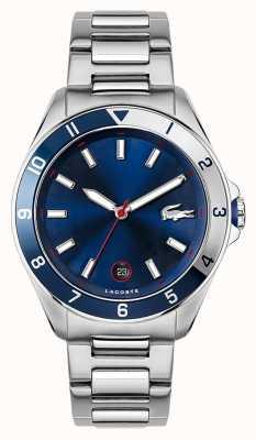 Lacoste Tiebreaker | roestvrijstalen armband | blauwe wijzerplaat 2011127