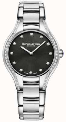 Raymond Weil Noemia | roestvrijstalen damesarmband | diamanten wijzerplaat 5132-STS-20081