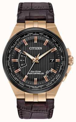 Citizen Herenwereld eeuwigdurend op | bruine lederen band CB0168-08E