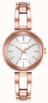 Citizen Eco-dive axioma roségouden armband voor dames EM0633-53A