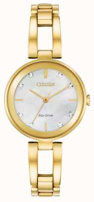 Citizen Eco-drive diamanten wijzerplaat voor dames EM0802-58D