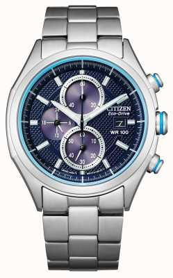 Citizen Eco-drive-armband voor heren WR100 CA0430-54M