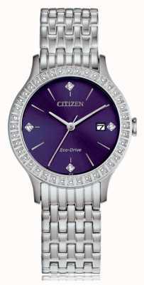 Citizen Eco-drive kristallen kast voor dames FE1200-51L