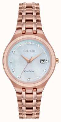Citizen Eco-drive diamanten wijzerplaat voor dames EW2489-54D