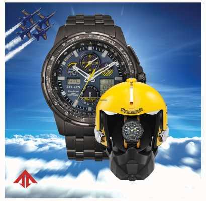 Citizen Eco-drive heren radiogestuurd | promaster skyhawk | blauwe engelen | helm presentatiedoos JY8097-58L