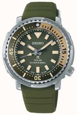 Seiko Prospex | groene siliconen band | groene wijzerplaat SUT405P1
