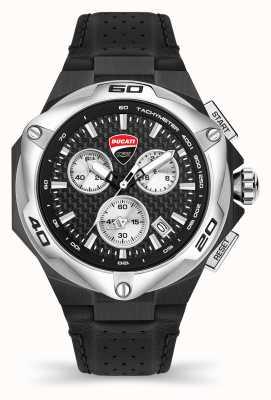 Ducati DT002 | chronograaf | zwarte wijzerplaat | zwarte leren band DU0065-CCH.A01