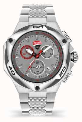 Ducati DT002 | chronograaf | grijze wijzerplaat | roestvrij stalen armband DU0065-ECHB.B03