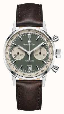 Hamilton intramatisch   automatisch   chronograaf   groene wijzerplaat H38416560
