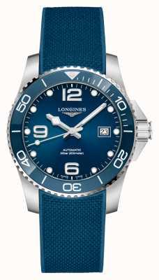 Longines Blauwe hydroconquest herenband, automatisch 41 mm L37814969