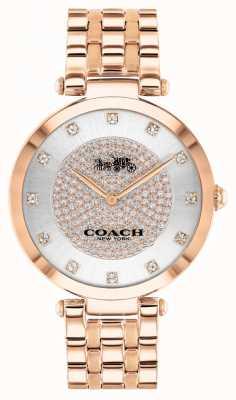 Coach Vrouwenpark | rosé vergulde stalen armband | witte wijzerplaat 14503735