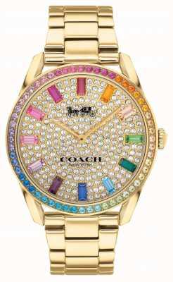 Coach Dames preston | vergulde stalen armband | kristallen wijzerplaat 14503657