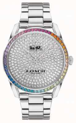 Coach Dames preston | roestvrijstalen zilveren armband | kristallen wijzerplaat 14503658