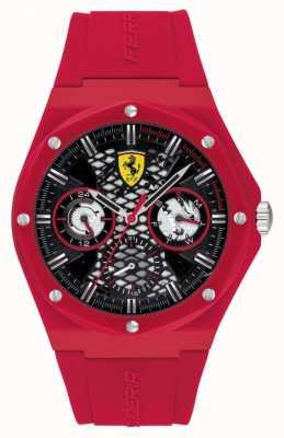 Scuderia Ferrari streven | rode siliconen band | zwarte wijzerplaat 0830786