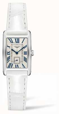 Longines Dolcevita elegantie eigentijds | dames | wit leer | Zwitsers kwarts L52554712