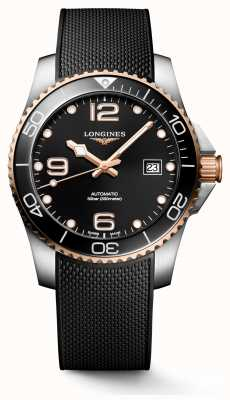Longines Hydroconquest 41mm | zwarte wijzerplaat | rubberen band L37813589