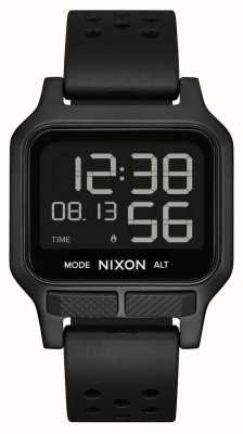 Nixon Warmte | Horloge met geheel zwarte rubberen band A1320-001