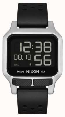 Nixon Warmte | zwarte geperforeerde rubberen band A1320-008