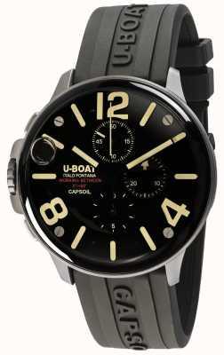 U-Boat Capsoil 45 ss chrono / c zwarte rubberen band 8111/C
