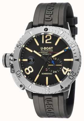 U-Boat Sommerso / a horloge met zwarte rubberen band 9007/A