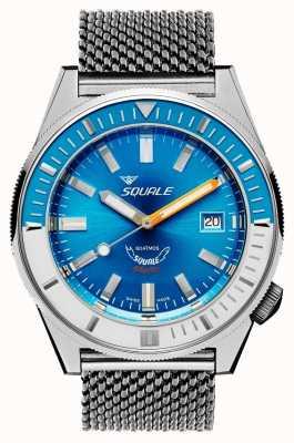 Squale Matic lichtblauw mesh | automatisch | blauwe wijzerplaat | roestvrijstalen mesh armband MATICXSE.ME22-CINSS22