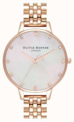 Olivia Burton Demi blush mop rosé gouden armband OB16SE15