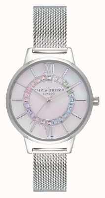 Olivia Burton Rainbow sparkle wonderland zilver OB16WD96
