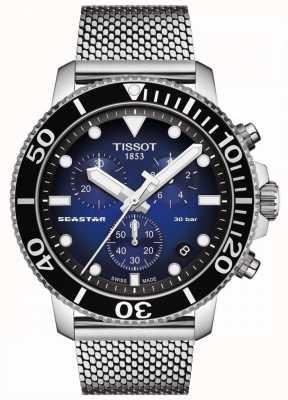 Tissot Seastar 1000 | chronograaf | blauwe wijzerplaat | roestvrij gaas T1204171104102