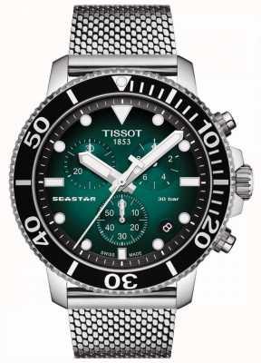 Tissot Seastar 1000 | chronograaf | groene wijzerplaat | roestvrij gaas T1204171109100