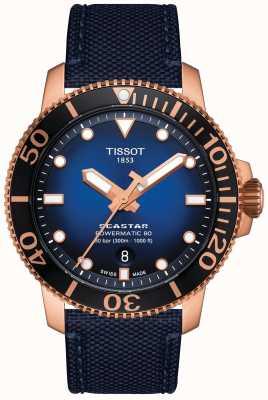 Tissot Seastar 1000 | powermatic 80 | blauwe wijzerplaat | blauwe stof T1204073704100