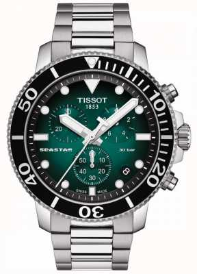 Tissot Seastar 1000 | chronograaf | groene wijzerplaat | roestvrij staal T1204171109101