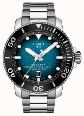 Tissot | seastar 2000 pro | powermatic 80 | turquoise wijzerplaat | stalen armband | T1206071104100