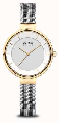 Bering Dames solar horloge goud/zilver 14631-024