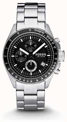 Fossil Gents zilveren chronograaf mode horloge CH2600IE