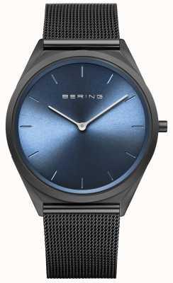 Bering Ultraslank zwart Milanese mesh horloge 17039-227