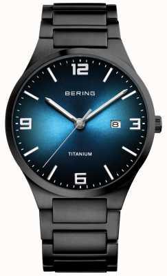 Bering Zwart verguld titanium horloge voor heren 15240-727
