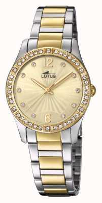 Lotus Horlogeband van goud en zilver voor dames L18384/1