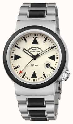 Muhle Glashutte De sar reddingstimer lumen | armband M1-41-08-MB