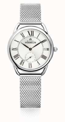 Michel Herbelin Equinox | zilveren wijzerplaat | armband van roestvrij staal 18397/08B
