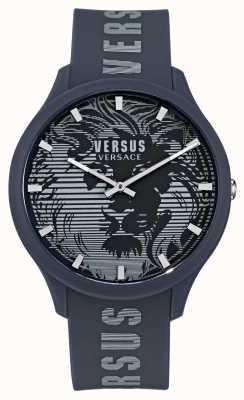 Versus Versace Domus blauw herenhorloge met siliconen band VSP1O0221