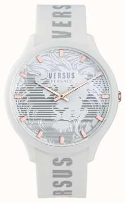 Versus Versace Domus-horloge met witte siliconen band voor heren VSP1O0421